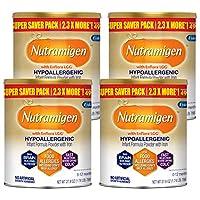 meadjohnson 美贊臣 Enfamil 鉑睿 Nutramigen 低變應原嬰兒奶粉,27.8盎司,788克,無乳糖-含有Omega 3 DHA,益生元,支持機體系統,含鐵,緩解身體不適(4包)