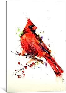 "iCanvasART Red Bird Canvas Print by Dean Crouser, 26"" x 18""/0.75"" Deep"