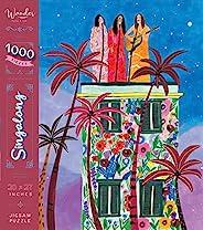 全新 1000 片拼图,女士拼图 - Wander Puzzle Co Singalong 灵感来自 Roeqiya Fris,20 x 27 英寸