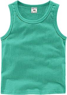 DQCUTE 幼儿男孩女孩纯色背心 T 恤内衣棉夏季无袖背心 * 120cm(5T)