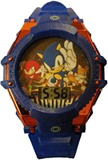 Sonic 男孩闪烁 LCD 手表