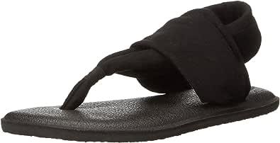 Sanuk 儿童中性 Yoga Sling Girls 夹趾拖鞋 1088221