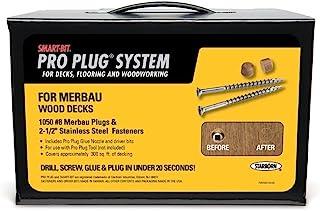 PRO PLUG SYSTEM 插头和紧固件系统,适用于 Merbau 1050 粒 - 插头由 Mangaris Diamond Merbau 0.79 cm 直径