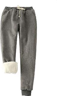 Hooever 女式休闲保暖Shrepa 内衬抽绳运动裤 慢跑裤