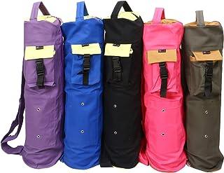 KD 瑜伽垫袋棉质帆布封面超大袋子多功能口袋用于瓶带砖块毛巾钱包块和更多单肩包垫架