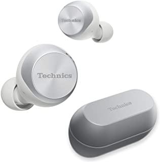 Technics 业界领先的噪声消除技术,真正的无线耳塞式耳机 | 蓝牙耳塞 | 双重混合技术,高保真声音,紧凑型设计 | 兼容Alexa |(EAH-AZ70W-S),银色