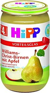 HiPP 喜宝 婴儿果泥 适用于4月以上婴儿 威廉姆斯梨/苹果味,6瓶装(6 x 250g)