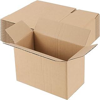 HAKZEON 20 包 8.3 x 4.3 x 5.5 英寸(约 21.9 x 14.9 x 14.9 x 14.9 厘米)小号装运箱,坚固的厚瓦楞纸箱,纸板运输箱,用于运输、搬运和包装