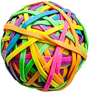 Activave 圆形球橡皮筋 150 克彩色橡胶带 弹性橡皮筋 文具支架 弹性带环 艺术和手工艺品 文件整理 长筒袜填充剂(4 件)