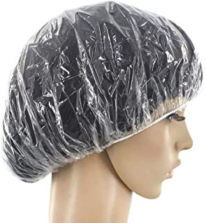 Spa Salon 一次性塑料乙烯基透明淋浴*浴帽 20 件装