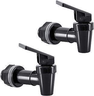 hgzaccompany 2 套不含 BPA 的替换水龙头,用于冷却器,2 个黑色替换龙头,用于冷却器,塑料尖头用于饮水器。