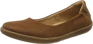 EL Naturalista 女式 N5300 愉悦木色/珊瑚色封闭趾芭蕾平底鞋
