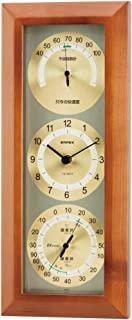 EMPEX 气象计 温度湿度计 舒适显示器 壁挂式 日本制造 褐色 TM-712