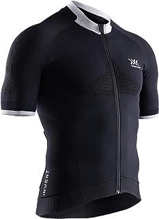 X-Bionic 男式 Invent 4.0 自行车赛车拉链短袖衬衫