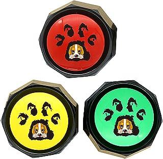 RIBOSY 3 件套,狗狗语音训练蜂鸣器,可记录按钮 - 训练您的狗狗发出他们需要的声音(含电池)