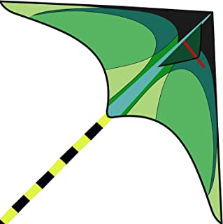 Motiloo Delta 儿童与成人的风筝 非常容易飞行的风筝 带 1 条丝带和 300 英尺风筝绳 适合初学者 海滩风筝传单 适合儿童户外活动