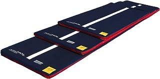 Tumbl Trak 蓝色牛仔罩风地板,白色线条中部,魔术贴和防滑材料(仅覆盖)