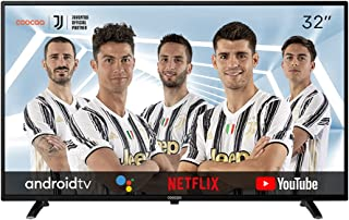 Coocaa 32S3M 32 英寸 Smart HD LED 电视(81 厘米)带安卓电视(窄边框,三调谐器,Android 9.0,Netflix,YouTube,Prime 视频,HDMI,CI插槽,USB,数字音频)