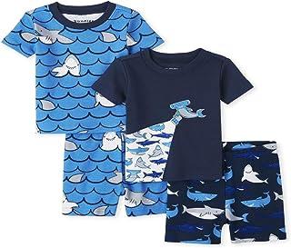 The Children's Place 男婴鲨鱼图案睡衣套装