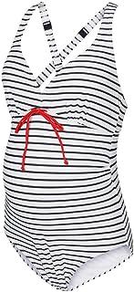 mamalicious 女式 mljosefine 条纹孕妇泳衣