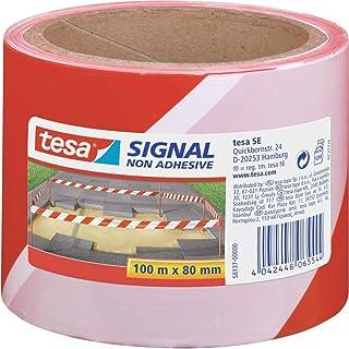 tesa 德莎 警示标志-警示胶带 非粘附性 尺寸为100m*80mm 红/白色