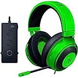 Razer 雷蛇 Kraken锦标赛版游戏耳机 - [绿色]:铝合金边框 - 可伸缩降噪麦克风 - THX 7.1环绕声…