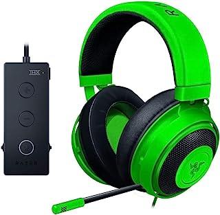 Razer 雷蛇 Kraken锦标赛版游戏耳机 - [绿色]:铝合金边框 - 可伸缩降噪麦克风 - THX 7.1环绕声USB DAC - 适用于PC,Xbox,PS4,Nintendo Switch