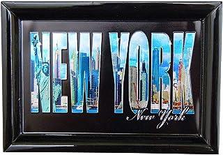 纽约市天际线纪念品照片带框*磁性箔冰箱磁贴