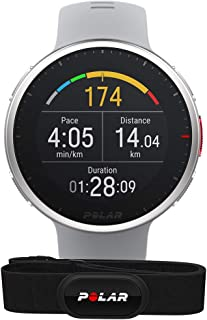 Polar Vantage V2 和 H10 高级多功能运动手表 GPS 智能手表 手腕上的脉搏测量用于跑步、游泳、骑自行车 - 音乐控制、天气预报、智能通知