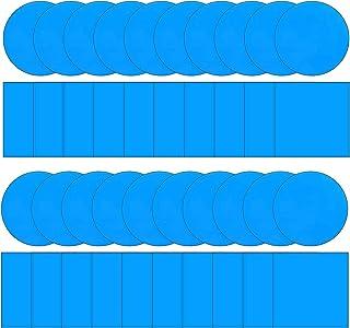 Yssreey 48 件泳池乙烯基修补贴片套件自粘 PVC 修补贴片乙烯基泳池衬垫贴片船修补乙烯基橡胶,适用于充气船、方形和圆形