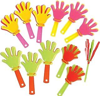 ArtCreativity 迷你手夹降噪器 - 48 件装 - 3 英寸(约 76.2 厘米) 各种塑料降噪器 适用于运动、派对和音乐会 - 男孩女孩的*佳生日派对礼品和糖果袋填充器