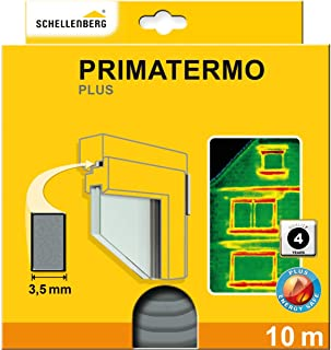 Schellenberg 66325 密封条 Primatermo Plus 全型材 9 x 4 毫米 10 米 门密封条 窗户密封件