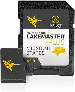 Humminbird LakeMaster 中南州版数字 GPS 湖地图,Micro SD 卡,版本 51103808  Lakemaster Plus LakeMaster Plus 多种颜色