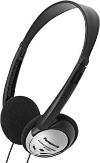 Panasonic 松下电器 带有XBS RP-HT21的包耳式耳机 轻巧(黑色和银色)