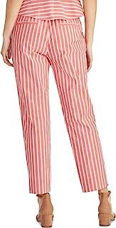 Rachel Rachel Roy 女士 Paolo 条纹高腰紧身长裤红色 12 码