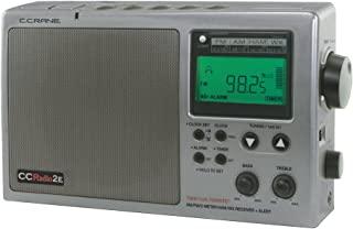 C. 起重机 CC 无线电 2E 增强便携式 AM FM 天气和 2 米光束带(钛)CC2TE