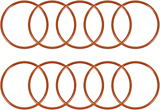 uxcell 硅胶 O 形圈,外径47毫米,内径42.2毫米,宽2.4毫米,VMQ密封圈,红色,10件