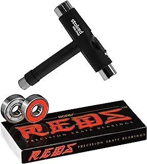 Bones Reds 滑板轴承 8 件装 [ 适用于滑板、长板、滑板车、转盘车 ]