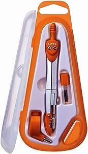linex 100412205学生圆规 Study 基本圆规12.5厘米1 4种颜色几何 - 圆规, 固定彩色盒* - 圆规橙色, 蓝色, 绿色, 紫色 – 用于学习 & 绘制