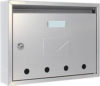 Rottner 信箱 Imola 银色钢信箱,小邮递员,观察窗,姓名牌