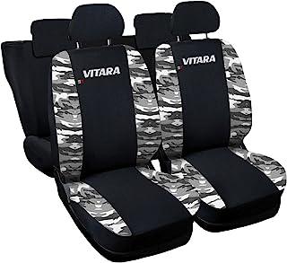 Lupex Shop N.Mch 座椅套,兼容Vitara 2015年款,黑色/迷彩
