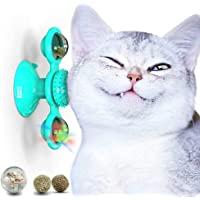 Puspoch 宠物猫玩具 室内猫玩具 猫头玩具球 猫轮玩具 猫轮练习玩具 带猫薄荷玩具、小猫玩具、猫运动轮、猫粮玩具