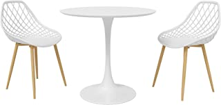 DAR Camber 咖啡馆餐具 3 件套,白色/自然色
