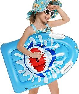 SUNSHINEMALL 充气冲浪板便携式身体板带手柄轻质软体板 儿童冲浪板 泳池浮板 适合海滩、冲浪、游泳、水上乐趣