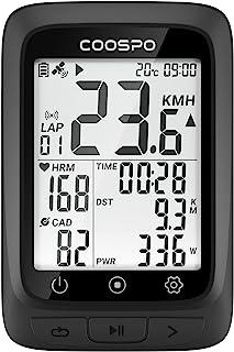 CooSpo 自行车 GPS 电脑自行车速度计无线自行车电脑自行车里程表 ANT+ 蓝牙 5.0 兼容性 IP67 防水 2.3 英寸高清屏幕多功能兼容 CoospoRide APP