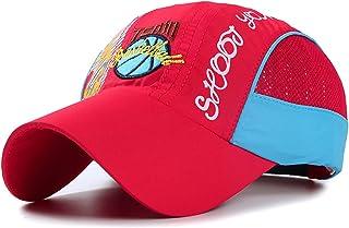 儿童女孩男孩速干网眼卡车司机帽太阳帽夏季凉爽运动遮阳网球帽适合 5-14 岁