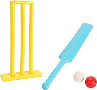 isilky 板球套装儿童板球棒和球沙滩湿球站 1 个蝙蝠 2 个球和 1 个击球板
