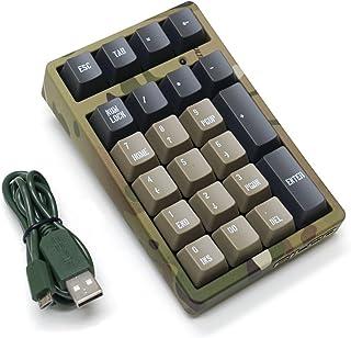 FILCO 斐尔可 Majestouch TenKeyPad 2 Professional Cherry MX 茶轴 USB连接 便携式机械数字键盘 迷彩