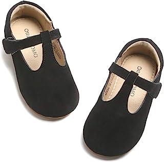 Otter MOMO 女孩 T 型绑带学校制服正装鞋 Mary Jane 平底鞋 (D711-黑色,数字_9)