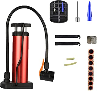迷你自行车地板泵,自行车泵,自行车充气器,自行车气泵,自行车轮胎泵,1 套自行车维修工具,适用于自行车轮胎气球运动球
